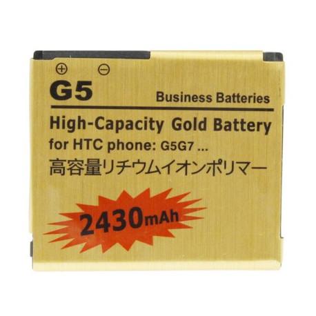 Image of   2430mAh høj kapacitet Guld batteri til HTC Desire / G7 HTC Nexus One / G5