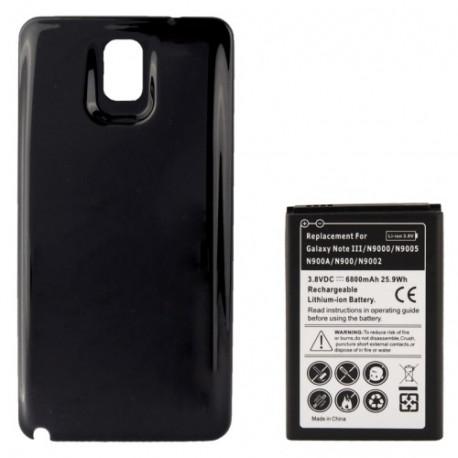 Image of   6800mAh mobiltelefon batteri & Cover Bagklap til Samsung Galaxy Note III / N9000 (sort)