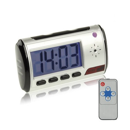 Image of   EU Plug Mini Spion-ur, skjult DVR kamera med bevægelsesdetektor, bruger TF (SD) kort op til 32GB (Sort)