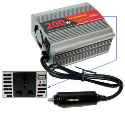 200W AC 220V+USB 5V Multifunctional inverter