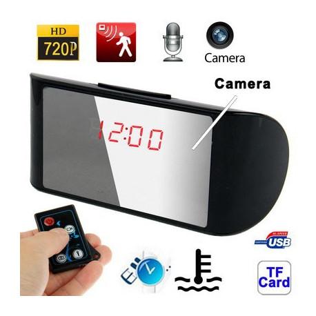 Image of   720P H.264 multi-funktionel bord ur Spy Skjult kamera Mini DVR med fjernbetjening,Vækkeur/dato og klokkeslæt/Temperatur Vis