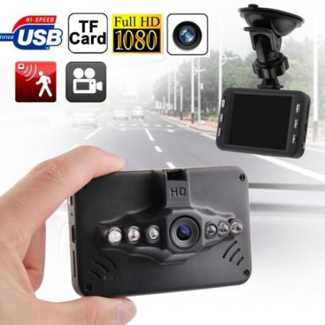 Image of   3,0 tommer TFT Fuld HD 1080p DVR nattesyn bil kamera med 6 fremhævet LCD, Sort (GT-10) (Sort)