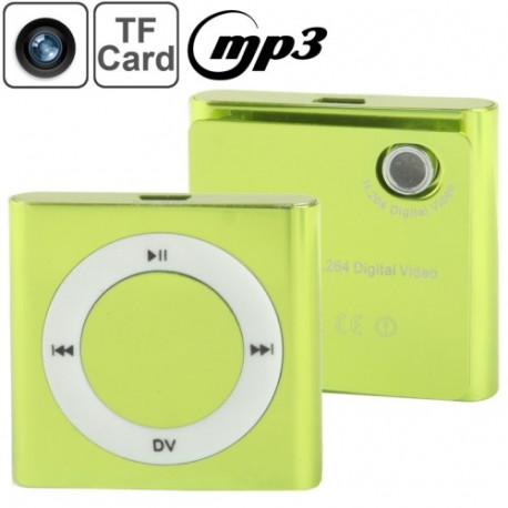 Image of   DV05 mini DVR Music Player, MP3-afspiller + H.264 digital video, 0,3 megapixel kamera, støtte TF kort (Grøn)