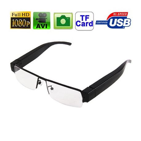 Image of   1080p HD-Nærsynethed 5,0 megapixel digitalkamera Briller med almindeligt glas, støtte TF kort, Format: AVI