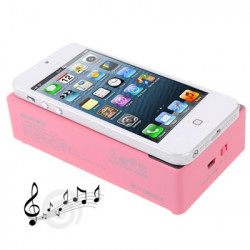Nærfelt Lyd Forstærker gensidige induktion højttaler til iPhone 5 / iPhone 4 / 4S / 3GS (lyserød)