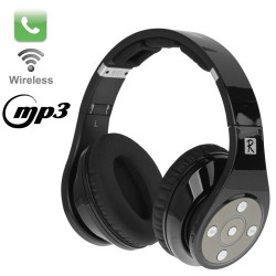 Bluedio R Sort, Bluetooth V3.0 sammenfoldelige stereo headset med mikrofon og MP3-funktion