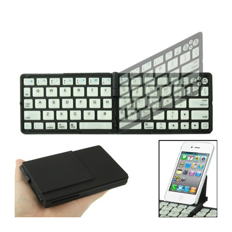 Image of   Bluetooth 3.0 sammenfoldning tastaturet for New iPad (iPad 3) / iPad 2 / iPhone 4 & 4S / Tablet PC, Rækkevidde: 10m