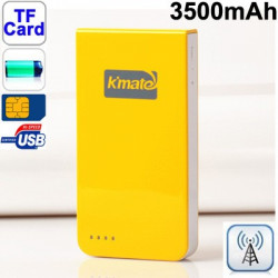 K Mate dual sim kort, dobbelt standby Bluetooth adapteren med 3500mAh batteri til iPhone