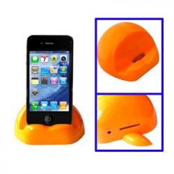 Apple formet universel docking oplader og adapter til iPhone 4 & 4S, iPad, iPhone 3G / 3GS (orange)
