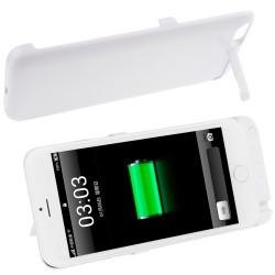 4200mAh genopladeligt ekstern sikkerhedsbatteri / strøm bank etui med holder til iPhone 6 Plus (hvid)