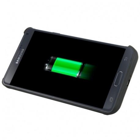Image of   3800mAh genopladeligt ekstern sikkerhedsbatteri / strøm bank etui med holder til Samsung Galaxy Note 4 (sort)