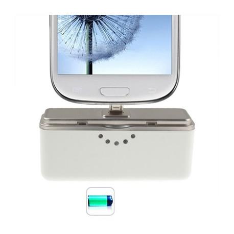 Image of   ITAB 2600mAh transportabel, ydreste højhastigheds mobil strøm bank til Samsung S5 / S IV / S III / Note III