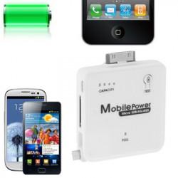 2200mAh bærbart mobil nødsituation oplader stationen til iPhone 4 & 4S / 3GS / 3G /