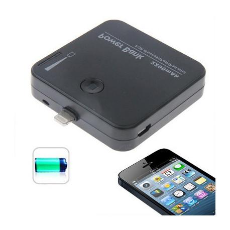 Image of   2200mAh bærbare magt Bank / eksternt batteri med skift og LED lys til iPhone 5 / iPod Touch 5 (sort)
