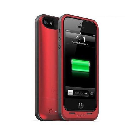 Image of   1700mAh Mophie juice pakke, genopladelig strøm bank og ekstern batteri etui til iPhone 5 / 5S (Rød)