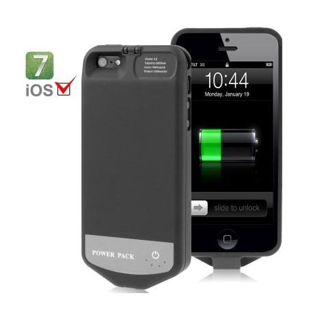 Image of   2800mAh 8 pin bevaret batteri / strøm bank for iPhone 5, kompatibel med iOS 7.0 Systems (sort)