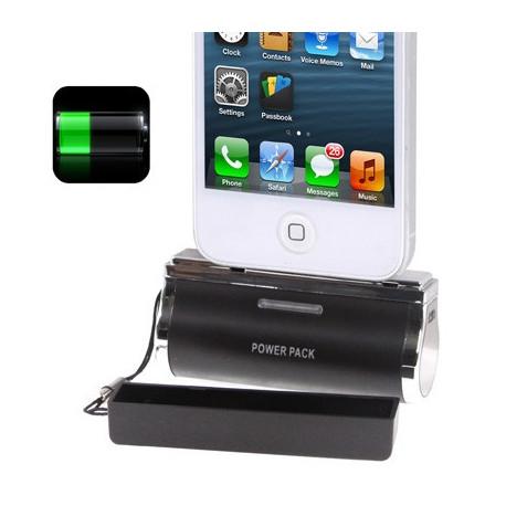 Image of   2800mAh farverige metaller belægning, bærbare magt bank / eksterne batteri til iPhone 5 / iPod Touch 5 (sort)