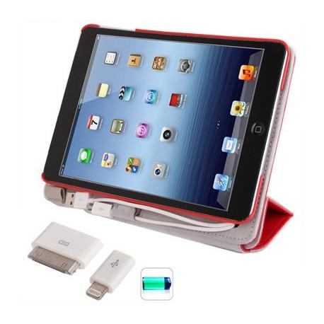Image of   10000mAh bærbare magt bank ekstern batteri og flip læder taske til iPhone 5 og iPhone 4S