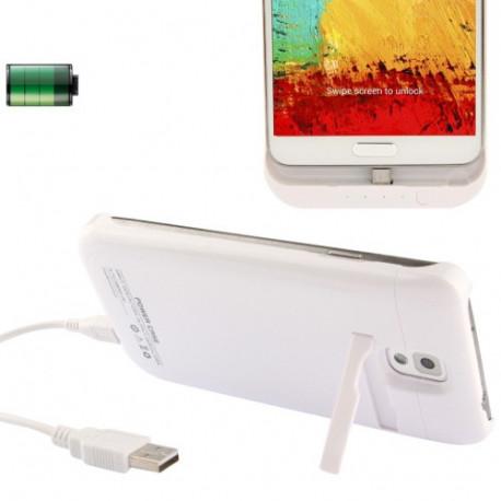 Image of   3800mAh bærbare magt bank/eksternt batteri med holder til Samsung Galaxy Note III / N9000 (Hvid)