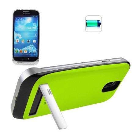 Image of   3200mAh bærbart strøm bank/eksternt batteri med holder til Samsung Galaxy S IV / i9500 (grøn)