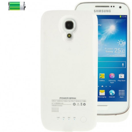 Image of   3000mAh bærbare magt bank/eksternt batteri med batteri Indikator for Samsung Galaxy S IV mini / i9190 / i9192 (hvid)
