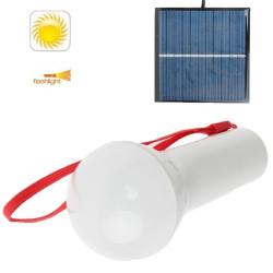 Mikrofon stil 1200mAh sol strøm lys med hvid lys