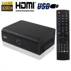 1080p Full HD Medieafspiller med RJ45, HDMI, eSATA grænseflade, støtte Indvendig 2,5 tommer SATA-harddisk