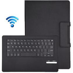 Bluetooth tastatur, aftagelig læder med taske og holder til Sony Xperia Tablet Z2, rækkevidde: 10m (sort)