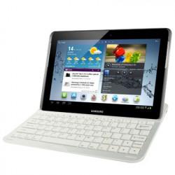 Bluetooth 3.0 Aluminium tastaturet beskyttende etui til Samsung Galaxy Note 10.1 / N8000 (hvid)
