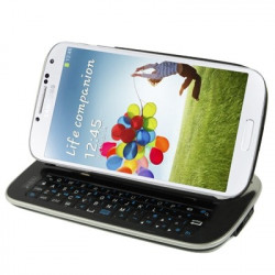 Aftagelig tilfældet + bluetooth 3.0 tastaturet med baggrundsbelyste til Samsung Galaxy S IV / i9500 (sort)