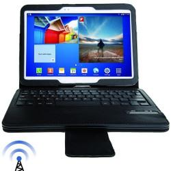 Flytbare magnetisk bluetooth 3.0, trådløse tastatur etui til Samsung Galaxy Tab 3 (10,1) / GT-P5200, rækkevidde: 10 m (sort)