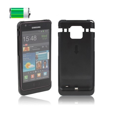 Image of   1000mAh batteri taske til Samsung Galaxy S II / i9100 (sort)