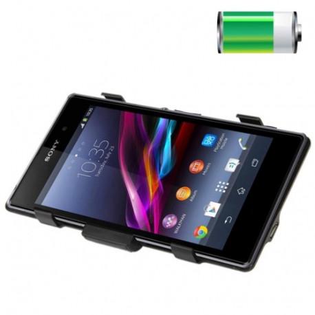 Image of   3500mAh bærbar ekstern litiumpolymerbatteri og dæksel med holder til Sony Xperia Z1 LiCoO2 (sort)