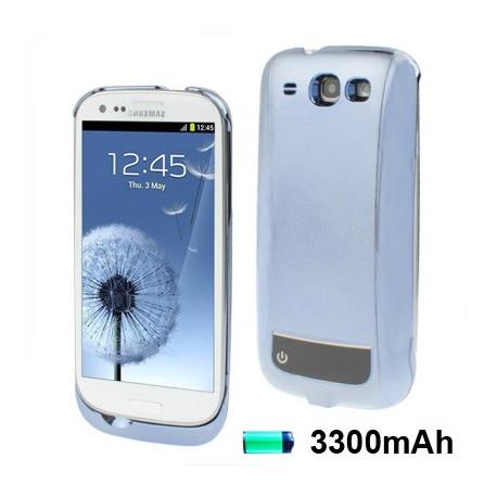 Image of   3300 mAh bærbare magt bank, ekstern batteri til Samsung Galaxy S III / i9300 (blå)