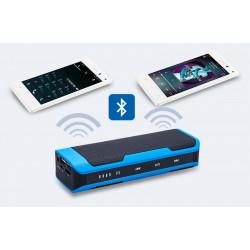Bærbar bluetooth højttaler - 4000mAh strøm bank, FM Radio, støtte håndfri, mikro SD-kort port, berør kontrol