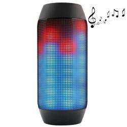 Pulse bærbart, bluetooth streaming mini højttaler indbygget LED lysshow & Mic (sort)