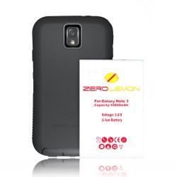 Zerolemon Samsung Galaxy Note 3 10000mah udvidet batteri med NFC + nul stødsikker / Støvtæt robust etui