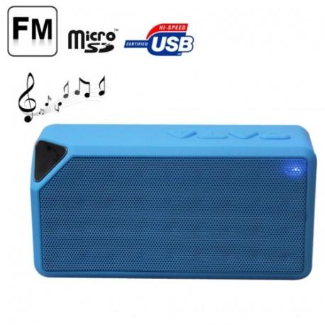 N/A – Bærbart bluetooth højttaler, støtte tf kort / aux (blå) fra olsens it aps