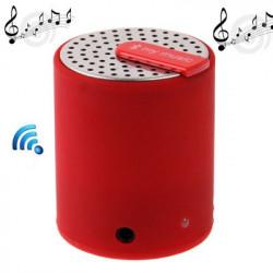 Bluetooth 2.0 lille højttaler, størrelse: 50 x 43 x 43 mm (rød)