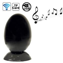 B6 æg formet berørnings kontrol med bluetooth stereo højttaler, støtte TF kort / USB flash-driveren / AUX-indgangen (sort)