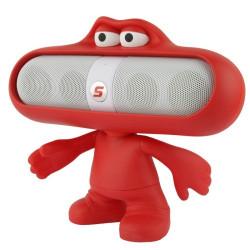Pill bærbart højttaler fyr dukke, tegn stil /makker stand, støtte S-IP4G-1912 (rød)