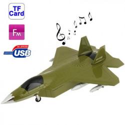 Luftfartøjer stil kortlæser Højttalere med FM-radio og USB-afspiller & LCD skærm (Grøn og Blå)