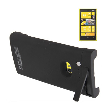 Image of   2200mAh bærbare magt bank, ekstern batteri med holder til Nokia Lumia 920 (sort)