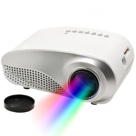 RD802 1080P HD lille LED projektor til hjemmet, Multimediesystem biograf, støtte AV / TV / VGA / USB / HDMI / SD (hvid)