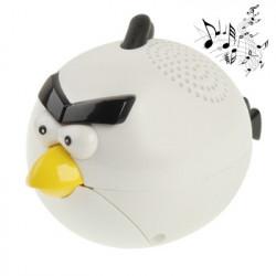 Angry Birds stil lille højttaler, størrelse: 90 x 57 x 57mm (hvid)