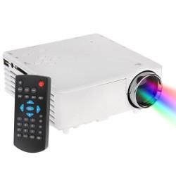 BarcoMax GP7S 1080P 120 lumen bærbare mini LED projektor til hjemmebiograf, støtte HDMI (hvid)