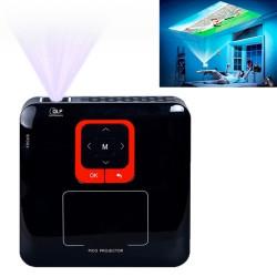 Koho KP100 intelligente,trådløse WiFi HD 1080p LED mini-projektor til Kontoret /Hjemme brug (sort)