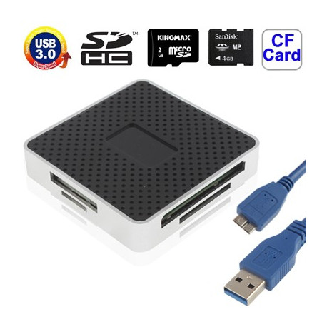 USB 3.0 Super All in 1 CF / SD / TF / M2 / XD kortlæser