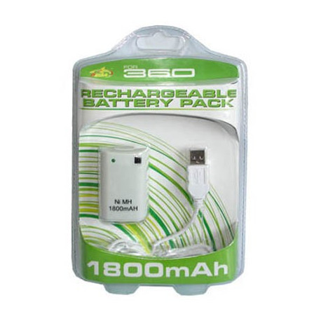 Genopladelig batteripakke til XBox 360 controller