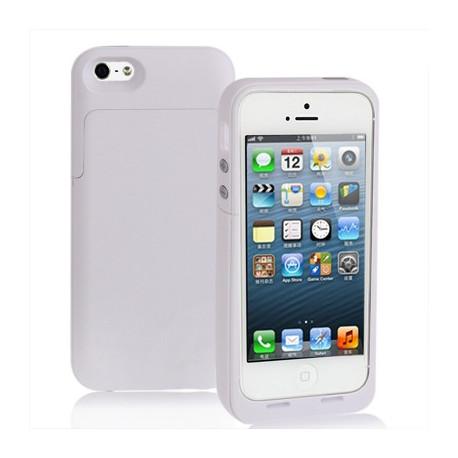 Image of   2200mAh bøde matte overflade, strøm bank, ekstern batteri til iPhone 5 (hvid)